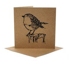 Set of 10 Hand Printed Christmas Greetings Cards. Linoprint, Bird Cards, Christmas Greeting Cards, Christmas Greetings, Tampons, Linocut Prints, Bird Prints, Quilting Designs, Making Ideas