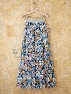 Vintage 1970s Multi-Fabric Maxi Skirt ~ I DIE~YO YO MAXI