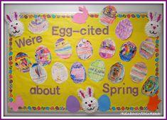 Spring Bulletin Boards For Preschool bulletin board ideas for daycare easter crafts Spring Art & Crafts, Bulletin Boards and Poems Daycare Crafts, Classroom Crafts, Preschool Crafts, Classroom Door, Classroom Ideas, Infant Classroom, Easter Crafts, Classroom Calendar, Preschool Lessons