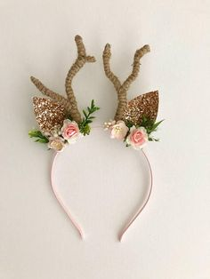 All Details You Need to Know About Home Decoration - Modern Antler Headband, Diy Headband, Ear Headbands, Reindeer Ears, Reindeer Headband, Christmas Hair Bows, All Things Christmas, Christmas Crafts, Diy Christmas Headbands