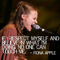 Fiona Apple http://www.myspace.com/fionaapple