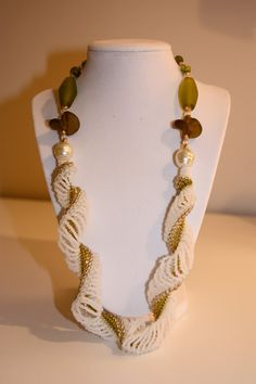 Beach Glass Dutch Spiral by HandStrungCreations on Etsy, $65.00