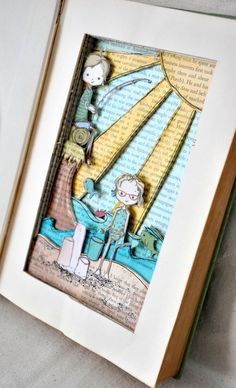 amazing! Love the layered look. I think I am going to try this in a shadow box