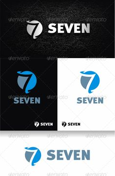 Number 7  Logo Design Template Vector #logotype Download it here: http://graphicriver.net/item/number-7-logo/2505366?s_rank=140?ref=nesto