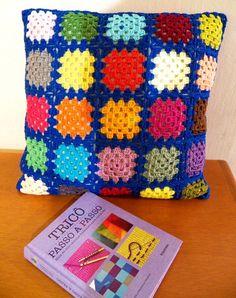 Granny Squares, Crochet Squares, Crochet Granny, Baby Blanket Crochet, Crochet Baby, Crochet Cushion Pattern, Crochet Cushion Cover, Crochet Cushions, Crochet Patterns