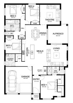 Modena single storey display floor plan wa houses rooms spaces soul 27 single level floorplan by kurmond homes new home builders sydney nsw malvernweather Images