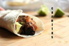 Carnitas - Bondiola Braseada con Palta, Tomate y Lima - Cocina Central