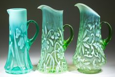 A fine selection of other opalescent water pitchers