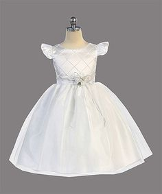 Love this White Pin Tuck Tulle Angel-Sleeve Dress - Toddler & Girls on #zulily! #zulilyfinds
