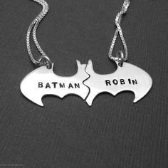 So cuute! Batman & Robin Necklace :)
