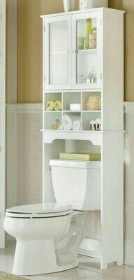24 Trendy Bathroom Storage Cabinet Over Toilet Fit Small Bathroom Cabinets, Small Bathroom Storage, Bathroom Design Small, Bathroom Interior Design, Bathroom Furniture, Small Cabinet, Bathroom Organization, Storage Mirror, Small Bathrooms