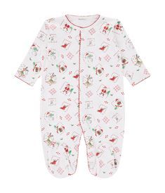View the Christmas Print Footie Playsuit