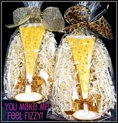 Champagne Flute Decorated Cookies