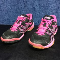 ASICS GEL-ROCKET pink/black . 7.5 Very clean . Minimal wear . No issues asics Shoes