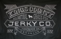 #Chalk Fabric Banner for Kings County Jerky Co., by Dana #Tanamachi - love the subtle details in this one!