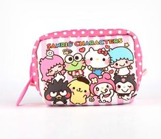Sanrio Big Zipper Cosmetic Bag: Blush