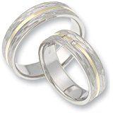 CORE by Schumann Design Trauringe/Eheringe aus 585 Gold (14 Karat) Gelbgold/925 Silber Bicolor mit echten Diamanten GRATIS Testringservice & Gravur 19105567 http://amzn.to/2qViBPa