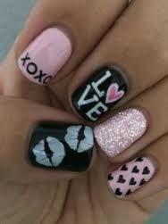 valentine nail designs - Google Search