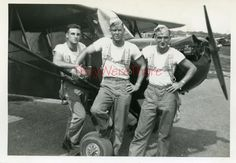 WWII photo- *310th BG* 381st BS* pilot *LT. TAORMINA w/ PIPER J-3 CUB* plane?-2