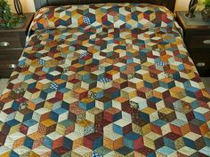 Tumbling Blocks Quilt -- terrific made with care Amish Quilts from Lancaster (hs6469). ------------------------------------ I love this Quilt TUMBLING BLOCKS--TD.