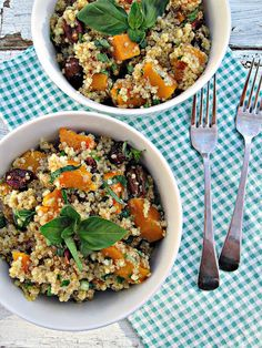 Quinoa With Roasted Butternut Squash and Pecans - hold the onions {vegan}
