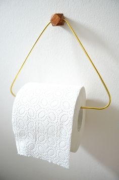 Make it boho : DIY Messing & Holz Toilettenpapierhalter