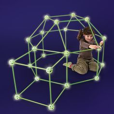 Because you are NEVER too old for your own fort. The Glow In The Dark Fort Frame Kit - Hammacher Schlemmer