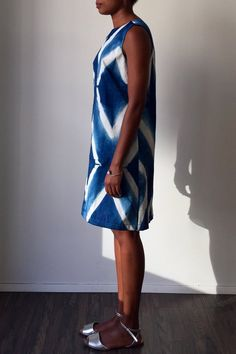 Confluence shibori dress by Jill Aiko Yee