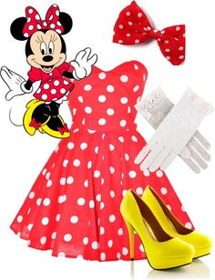 """""""Minnie Mouse"""" by swiftlylove13 on Polyvore"""