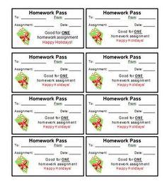 graphic relating to Printable Homework Pass identify No math research p