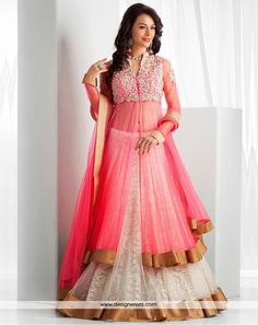 White Pink And Copper Together In Lovely Designer Lehenga ✔ Occasion Party wear, Wedding wear, Reception Wear, Engagement wear ✔ Collection Designer Lehenga ✔ Color Light Pink, White, Golden ✔ Fabric Net, Brasso ✔ Work Tilla work, Stones, Lace work ✔ Season Any ✔ Weight 3 K.G. ✔