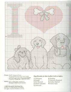 Schematic cross stitch Love Dog 02