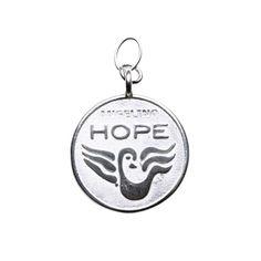 Love & Hope Anhänger - Hope auf der Rückseite.
