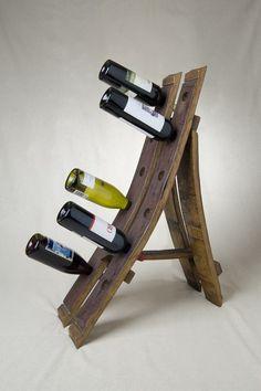Wine Barrel Free Standing Wine Rack by alpinewinedesign on Etsy