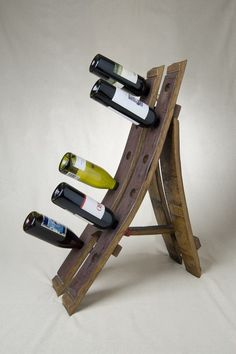 Wine Barrel Free Standing Wine Rack by alpinewinedesign on Etsy