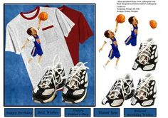 Ball In The Pocket T Shirt Trainers Decoupage on Craftsuprint - Add To Basket!