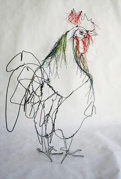 david sculpture Amazing Wire Sculptures By David Oliveira or contour drawing Sculptures Sur Fil, Art Sculpture, Wire Sculptures, Abstract Sculpture, Bronze Sculpture, Contour Drawing, Wire Drawing, Art Fil, Chicken Art