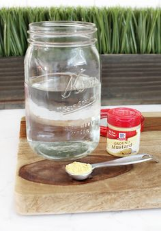 To remove odors from glass jars and plastic food storage containers - fill jar/container with warm water, add about a teaspoon of dry mustard. Shake the jar/container for a minute and let it sit overnight. The next morning, dump the nasty yellow liquid and run the jar/container plus lid through the dishwasher.