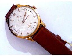 1-5-641-1-R-Cyma con correa de cuero color coÃac L2435 Leather, Accessories, Clocks, Jewelry Accessories