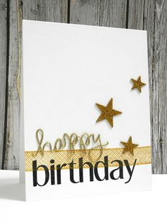 Golden Birthday by Jingle - Cards and Paper Crafts at Splitcoaststampers
