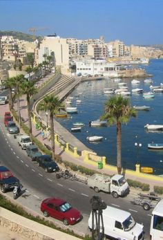 The promenade at St. Paul's Bay, Malta. History has it that St. Paul from the Christian bible was shipwrecked here, hence the name. http://MaltaPackageHolidays.co.uk