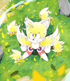 Super Tails by Nerkin on DeviantArt Silver The Hedgehog, Shadow The Hedgehog, Sonic The Hedgehog, Hedgehog Art, Fox Boy, Classic Sonic, Sonic Franchise, Mickey Mouse Cartoon, Games