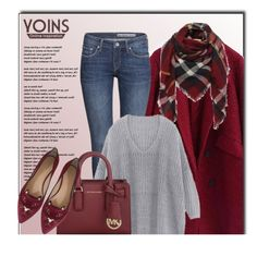 """""""YOINS.com"""" by monmondefou ❤ liked on Polyvore featuring H&M, Michael Kors, Charlotte Olympia, women's clothing, women, female, woman, misses, juniors and yoins"""