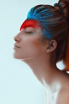 Rainbow Coloured Hair - Shadowflower