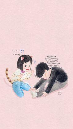 Fanart from DC Gallery Best Dramas, Korean Dramas, Ryu Jun Yeol, Couple Illustration, Drama Korea, Cute Cartoon Wallpapers, Fanart, Dope Art, Big Love