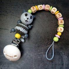 Schnullerkette Kätzchen mit Bäuchlein Monster, Beaded Bracelets, Jewelry, Handmade, Jewels, Pearl Bracelets, Schmuck, Jewerly, Jewelery