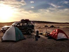 Wild Camping in desert