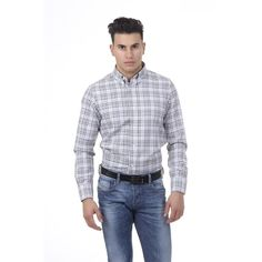 Checked 40 IT - 15¾ US Versace 19.69 Abbigliamento Sportivo Srl Milano Italia Button Down Neck Shirt 627 VAR. 23