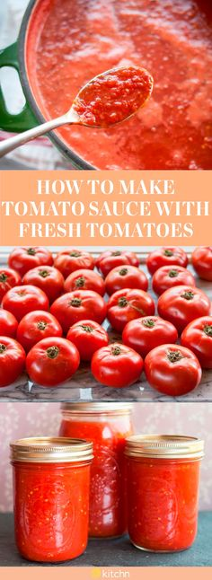 How to Make Tomato Sauce from Fresh Tomatoes From Scratch. This homemade recipe is simple, it just takes some time. You can can and process it, or simply freeze the sauce in your freezer to preserve it for months to come if canning isn't your thing. How To Make Tomato Sauce, Homemade Tomato Sauce, Homemade Recipe, Canned Tomato Sauce, Recipe For Tomato Sauce, Sauce From Fresh Tomatoes, Simple Tomato Sauce, Freezing Tomato Sauce, Fresh Tomato Sauce Recipe