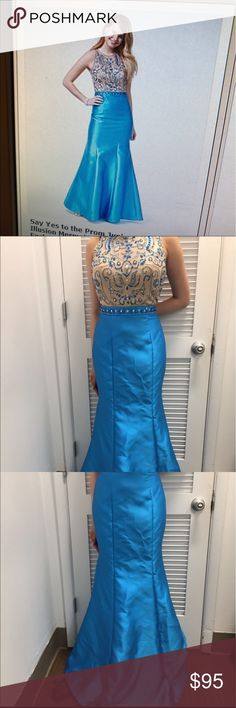 Turquoise blue dress Brand new with tags say yes to the dress Dresses Prom
